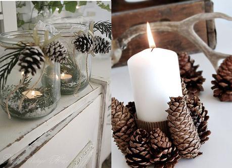 Inspiracion decoracion en navidad con pi as naturales - Decoracion navidena con pinas ...