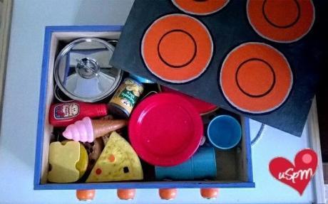 C mo hacer una cocina de madera para ni os con una caja de vinos paperblog - Hacer una caja de madera ...