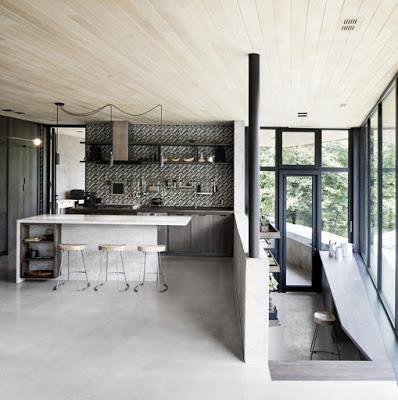 casa minimalista en un area rural de quebec paperblog