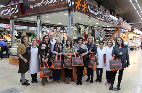 Visitando a Manjaral en el Mercado Central de Castellón.