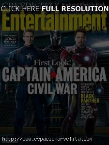 Captain America: Civil War en portada de EW