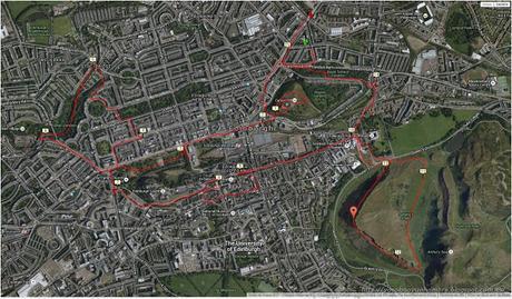 Mapa ruta running Edimburgo