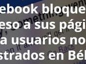 Facebook bloquea acceso páginas usuarios registrados Bélgica