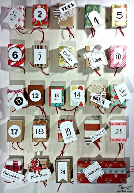 Small lowcost calendario de adviento diy paperblog - Calendario de adviento diy ...