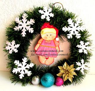 C mo hacer una corona navide a con ganchos de ropa paperblog - Como hacer coronas navidenas ...