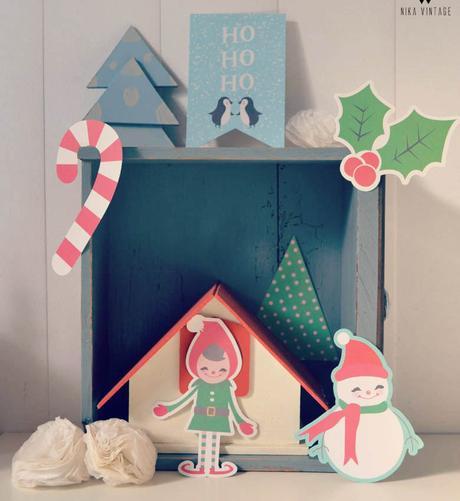 Decoraci n de navidad con ciervos letras y cajones de madera paperblog - Decoracion de navidad original ...