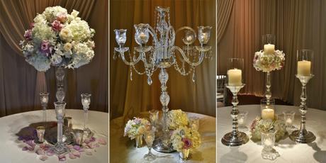 ideas sobre centros de mesa con velas flotantes