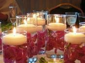 ideas sobre centros mesa velas flotantes
