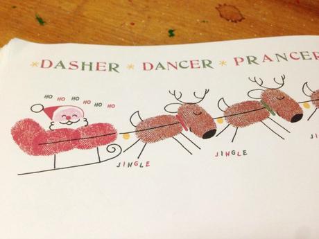 Originales ideas para pintar la navidad con manitas y pies paperblog - Dibujos de navidad originales ...