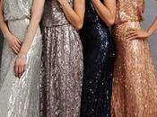 Damas honor: brillantes vestidos metálicos lentejuelas