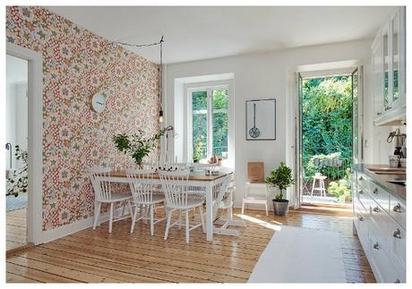 Cocinas con papel pintado paperblog - Papeles pintados lavables ...