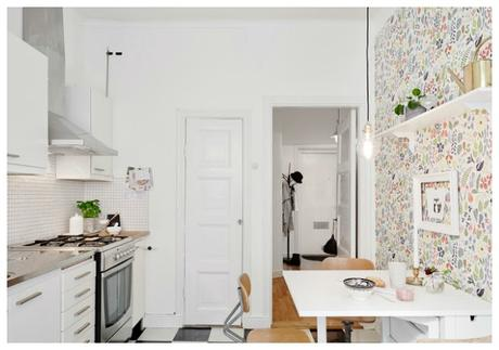 Cocinas con papel pintado paperblog - Papel pintado para cocina ...