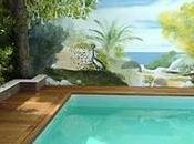 Muros pintados imitando paisajes naturales jardines
