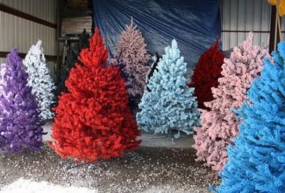 rbol de navidad artificial a color