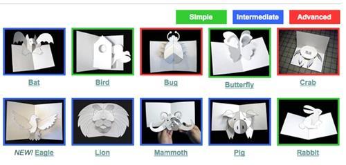 sabuda Manualidades infantiles  Tarjetas de Navidad en 3D