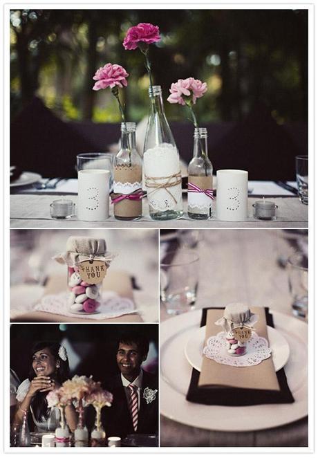Diy: Decoración de las mesas del banquete