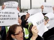 trabajadores aeropuerto manifiestan contra propuesta