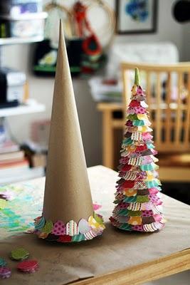 Arboles de navidad de papel paperblog - Arboles de navidad de papel ...