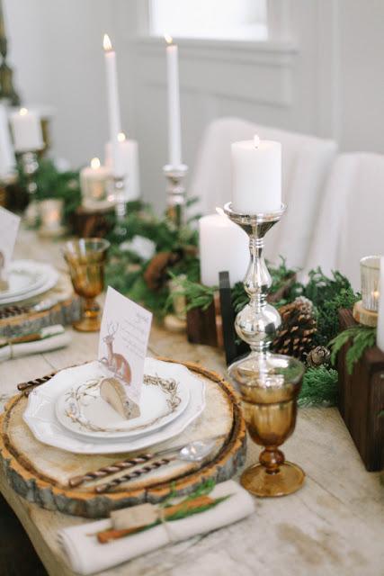 mesa rustic navidad