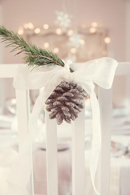 decoracion silla navidad