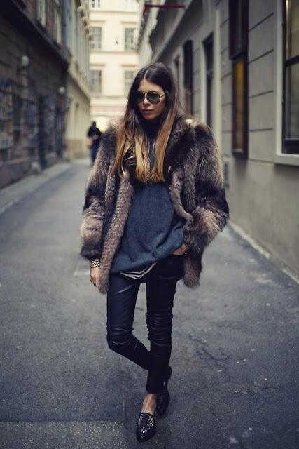STREET STYLE INSPIRATION; HOW TO WEAR A FAUX FUR COAT.-