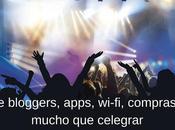 bloggers, apps, wi-fi, compras mucho celebrar