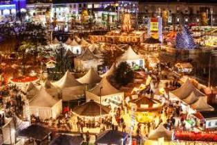 Mercado Navidad Dublin. Inshala. Fotografía: Googleplus
