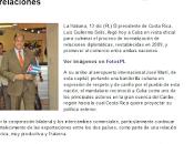 portadas arribo Cuba presidente Costa Rica