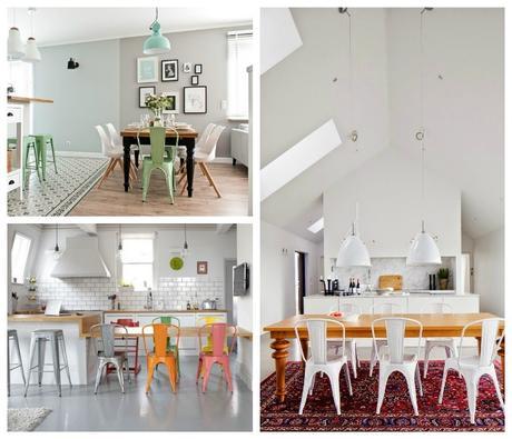 Como definir el estilo de un comedor con las sillas for Como funciona un comedor industrial