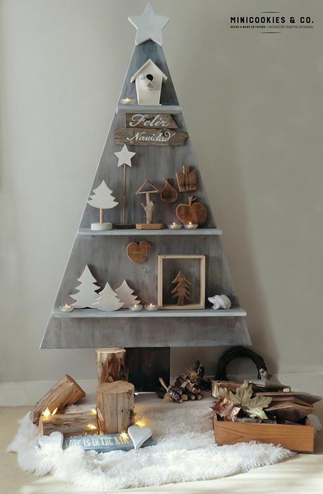 Arbol navidad de madera paperblog - Arboles de navidad en madera ...