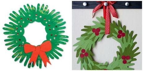 Coronas navide as para hacer con ni os paperblog - Como hacer manualidades navidenas para ninos ...