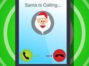 Santa Claus esta Telefono, quieres Hablarle