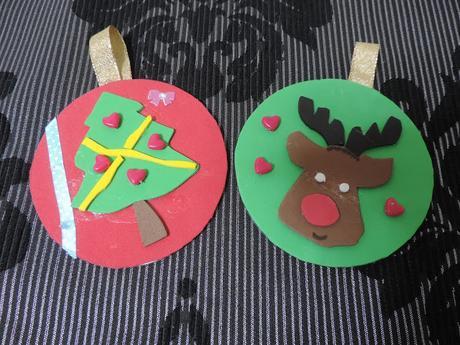 adornos de navidad con cds reciclados y goma eva reto infantil de navidad