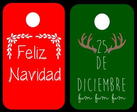 Etiquetas para regalos de navidad - Imprimibles gratis - Paperblog