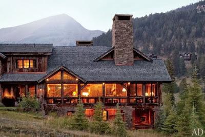 Casa de monta a de madera y piedra paperblog for Casa moderna en la montana