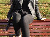Black biker White Sneakers
