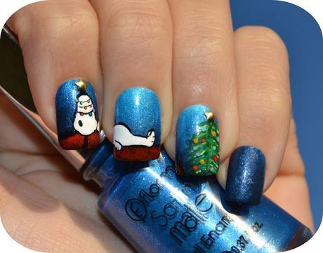 Nail Art - Snoopy Navidad