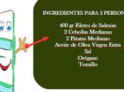 Filete salmón patatas cebolla