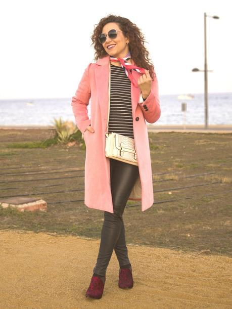 Rocking the Pink Coat in Mojácar's Sunset