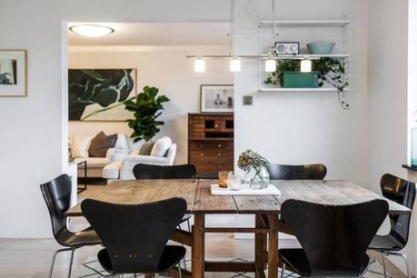 Salón con chimenea y librería empotrada   paperblog