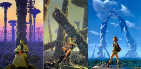Portada de la saga de la Fundación. Asimov inspiró buena parte de la estética del cine de ciencia ficción.