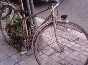 bici abandonada crecen hierbas, barcelona abans avui sempre...8-01-2016...!!!
