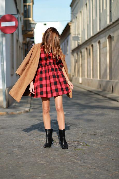 Mini vestido a cuadros