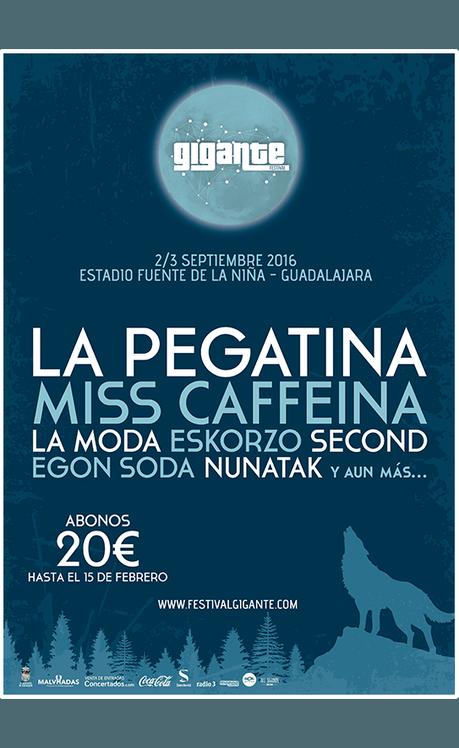 El Festival Gigante confirma a La Pegatina, Miss Caffeina, La M.O.D.A. y Second, entre otros artistas