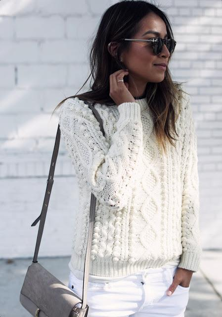 STREET STYLE INSPIRATION; WINTER WHITE.-