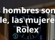 hombres Apple, mujeres Rolex