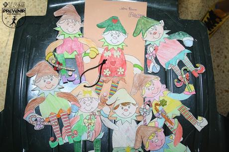 manualidades elfo navidad papel