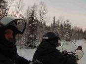 Safari motos nieve, renos huskies