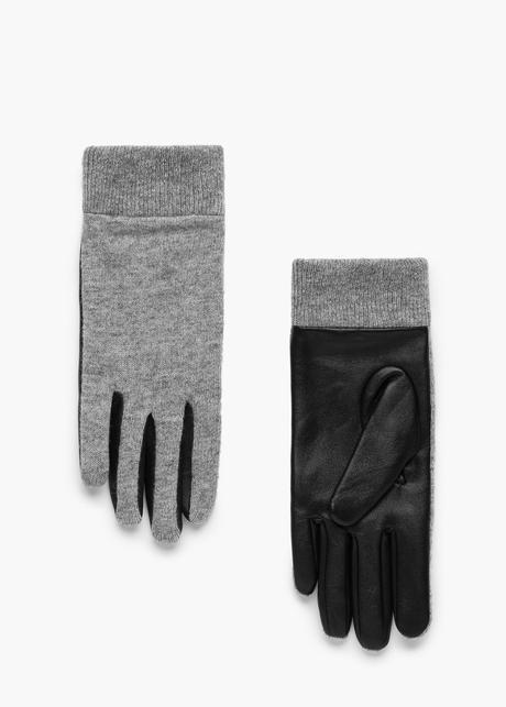 Guantes piel lana | MANGO
