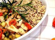 Quinoa hortalizas pollo